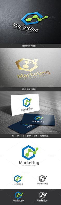 Marketing Logo by Super Pig Shop on Creative Market