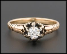 Antique Diamond Engagement Ring 0.25ct 14k by TrademarkAntiques