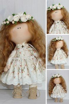 Fabric doll, tilda doll, handmade doll, nursery doll, gift doll
