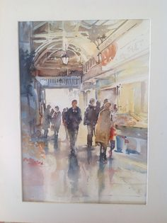 Covered market, oxford Oxford United Kingdom, Oxford City, Oxford England, Dream City, Watercolours, Studio, Painting, Frases, Art