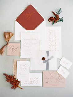 Tropical maroon and blush wedding stationary: Photography : Sally Pinera Read More on SMP: http://www.stylemepretty.com/2017/02/27/this-is-how-you-do-tropical-elegance-in-los-cabos/