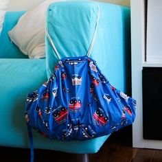Never throw out an old umbrella again, Repurpose into this cute and useful toy sack.