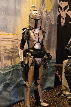 Lady Boba Fett Medieval Knight cosplay. Just the most astonishing crossover.