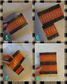Roskartelua -Kassi, pussi ja alusta karkkipapereista
