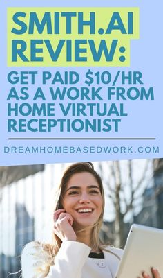 Interested in a work from home job as a Virtual Receptionist? Smith A.I is a legit company looking for people to join their team. Weekly pay and benefits are included. Home Based Work, Work From Home Jobs, Earn Money From Home, How To Make Money, Companies Hiring, Jobs Hiring, Virtual Receptionist, Customer Service Jobs, Typing Skills