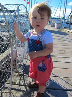 PDF Boys Or Girls Overall Romper Pattern (Sizes 6-18 months) by baby barnacle
