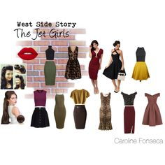 The Jet Girls by emeraldroses on Polyvore featuring art