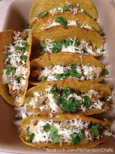 Chili Relleno Tacos! Find this recipe and more at www.facebook.com/RichardsonChefs