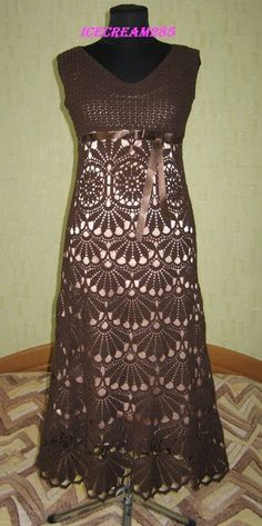 Maravilhas do Crochê: Vestido de Crochê                              …