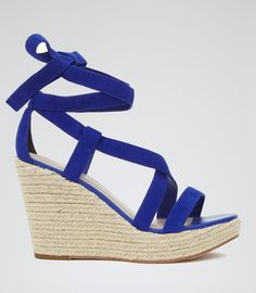Reiss Grenada Women's Serpentine Suede Wedge Espadrilles