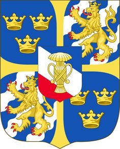 Coat of Arms, Christina Queen of Sweden 1632 - House of Vasa Gustav Adolf, Holland, Kingdom Of Sweden, Queen Of Sweden, Swedish Army, Swedish Fashion, Royal House, Women In History, People
