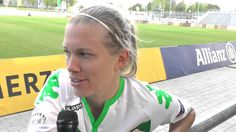 Lara Dickenmann after 1.FFC Frankfurt -VfL Wolfsburg on 01.05.2016