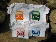 Onesie VW Applique Love Bus Baby Shower Present. $28.00, via Etsy.