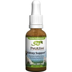 """PetAlive Kidney Support – Petiquette Dogs - Kidney Support is a 100% safe, natural remedy formulated by a team of experts in the field of natural medicine. Used regularly, Kidney Support will promote kidney functioning, support healthy blood pressure within the normal range and maintain routine excretion of waste products - thus providing support for optimum performance of the canine or feline urinary tract system! """"Like"""" or """"Pin"""" this and use discount code """"Pin5"""" for 5% off."""