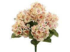 "Garden Silk Hydrangea Bush in Pink<br>17.5"" Tall"