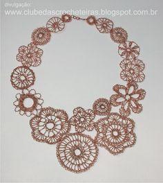 CLUBE DAS CROCHETEIRAS: crochê com fio de cobre