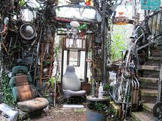Keep Austin Weird:  Weird Things To Do in Austin. This was at someone's house. The Cathedral of Junk.