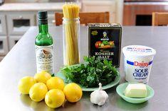 Pioneer Woman: Baked Lemon Pasta- great light lemon flavor. Versatile dish. Used whole wheat noodles.