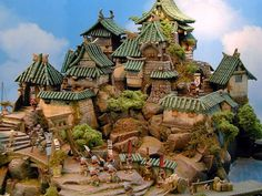 toy castle diorama - Google Search