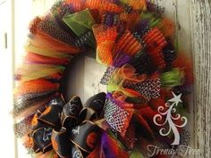 Halloween Tulle & Ribbon Wreath Tutorial