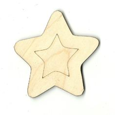 Star Unfinished Laser Cut Wood Shape SKY11