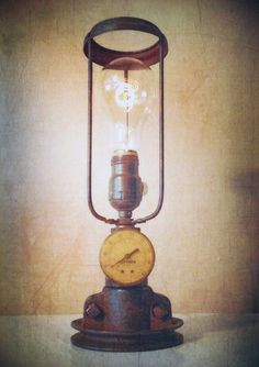 If you are looking for a unique, impossible to duplicate piece of functional art, then look no further!  This light will be perfect for your desk, end table, home office, or wherever you'd like t...