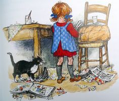I assume many of you are familiar with the illustrations of Shirley Hughes We have lots of her books here, loved by me as much if not more...