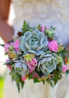 Pretty succulent bouquet.
