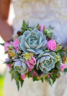 Pretty succulent bouquet.