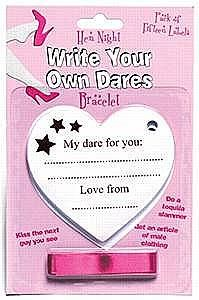 Hen Night Dare Bracelet... I'm thinking of doing this for my hen's, asking my girls to write me a dare (not crude) for me to do on the night