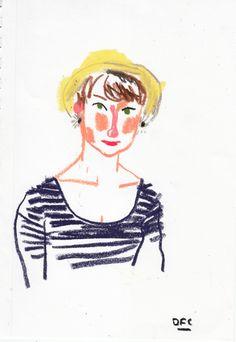 Emma Block illustration by Damien Florébert Cuypers