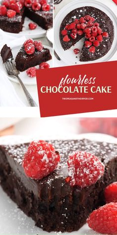 The perfect fancy treat to cap off your romantic dinner ideas for two at home! Flourless Cake is an easy, one-bowl chocolate cake idea that is decadent and gluten-free. Save this Valentine's Day dessert recipe and try it! dinner for two Flourless Cake Valentines Day Food, Valentines Day Desserts, Valentine Dinner Ideas, Fancy Desserts, Just Desserts, Delicious Desserts, Fancy Chocolate Desserts, Chocolate Raspberry Mousse Cake, Chocolate Day