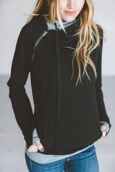 Our most popular piece and for good reason! This hoodie is the cutest way to stay comfortable and cozy while remaining dang cute! It's zipper detail adds a fun element, double hoods keep your noggin w