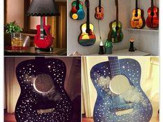 21 idées pour transformer une guitare en objet de décoration