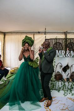 Sotho Wedding With The Bride In Green Seshweshwe African Print Dresses, African Fashion Dresses, African Dress, African Art, African Wedding Attire, African Attire, South African Traditional Dresses, Sesotho Traditional Dresses, South African Weddings