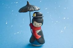 Mary Poppins clay figure