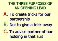 CARD PLAY: Opening Leads. https://youtu.be/pp-4lBDYBsg