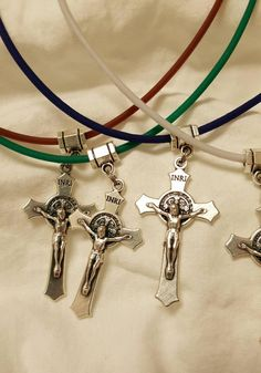 St. Benedict Crucifix Necklace Boys by SaongJai on Etsy