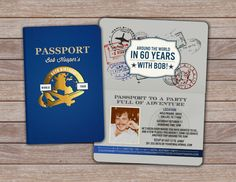 DIGITAL FILES ONLY YOU NEED TO PRINT  PASSPORT INVITATION! I also design these for any type of event, baby showers, birthdays, weddings etc  Have