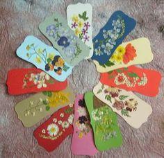 Bookmarks pressed flowers  handmade, diy