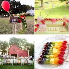 18th birthday garden party decorations