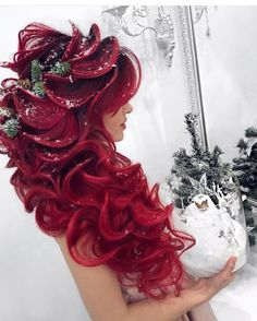 80 Attractive Christmas Hairstyles for the Best Holiday Look - Page 48 of 200 - CoCohots - cocohots - Hair Styles Color Your Hair, Cool Hair Color, Hair Colors, Fantasy Hair, Christmas Hairstyles, Mermaid Hair, Hair Videos, Hair Art, Gorgeous Hair
