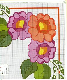 Cross Stitch Borders, Cross Stitch Rose, Cross Stitch Flowers, Cross Stitch Charts, Cross Stitching, Cross Stitch Embroidery, Cross Stitch Patterns, Christmas Cross, Fabric Flowers