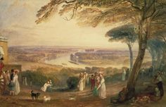 Joseph Mallord William Turner 'Richmond Terrace, Surrey', c.1836 - Watercolour, bodycolour and scratching out on paper -  Dimensions Support: 280 x 435 mm -  © Board of Trustees of the National Museums and Galleries on Merseyside