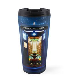 Tardis doctor who bigger on the inside Travel Mugs #mugs #travelmugs #tardis #doctorwho #dr10th #phonebox #phonebooth #bluephonebox #biggerinside #davidtennant