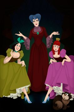 If disney villains had won: Cinderella. (This one will give me the fewest nightmares.)