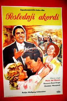 FINAL ACCORD 1960 SCHLUBAKKORD MARIO DEL MONACO UNIQUE EXYU MOVIE POSTER