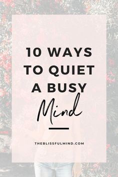 When you want to relax but your mind keeps racing, how do you make it shut up? Here's how to quiet your mind when you're feeling overwhelmed. Negative Self Talk, Negative Thoughts, Writing Lists, Feeling Overwhelmed, Mentally Strong, How To Relieve Stress, Reduce Stress, Inspirational Books, Stressed Out
