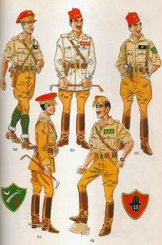 Los Regulares. Campaña de 1936-39. Jefes y Oficiales en verano Battlefield 5, Army & Navy, Poster On, Military History, Knight, Spanish, Military Uniforms, Fictional Characters, Barcelona