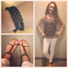 Loving these white jeans from #levi shirt #forever21 bracelet #forever21 sandals #volcom #bestfriend #cute #whitejeans #girly #summertime #properpinkfashion #follow #followme